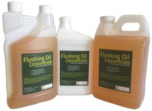 Flushing Oil Concentrate different sizes and bottle choices