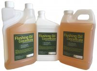 Flushing oil concentrate dirty engine oil