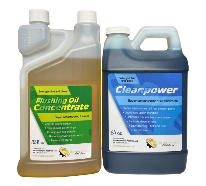 Flushing Oil Concentrate & Cleanpower Value Pack 3 Option 1