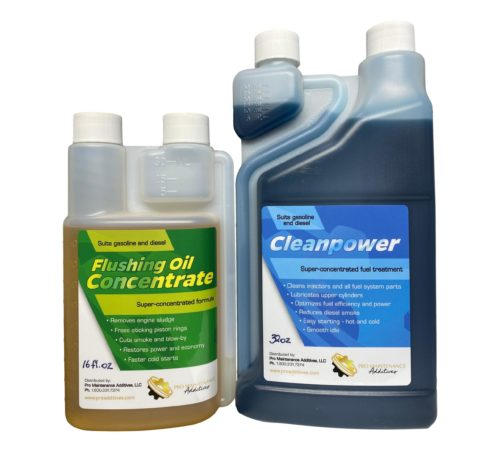 Flushing Oil Concentrate and Cleanpower Value Pack 2 Option 1