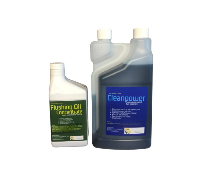 Small Flushing Oil Concentrate & Cleanpower Option 4
