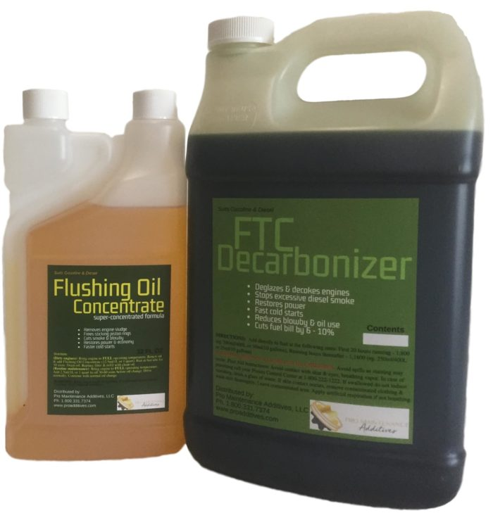 Truckers-Blowby-Pack-Small-with-twin-neck-Flushing-Oil-Concentrate-FTC-Decarbonizer